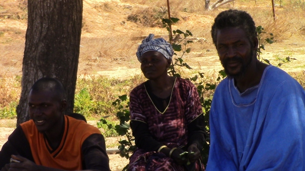 Master Farmer, my loving counterpart Fatou Diop, and Serigne Kerin - left to right.
